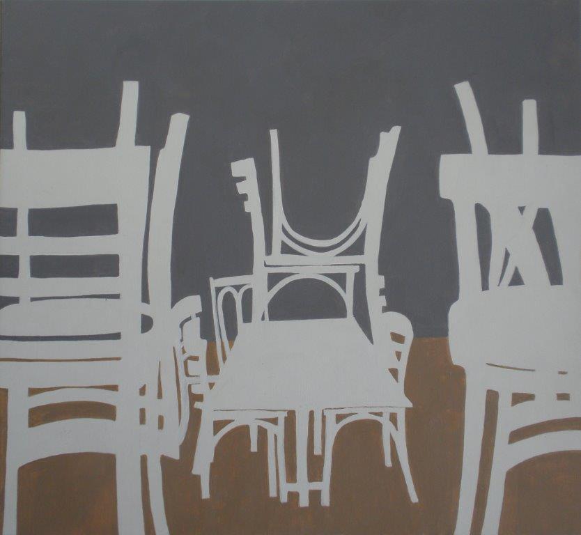 Schilderijen van stoelen gemaakt door kunstenares marie art - Entree schilderij ...